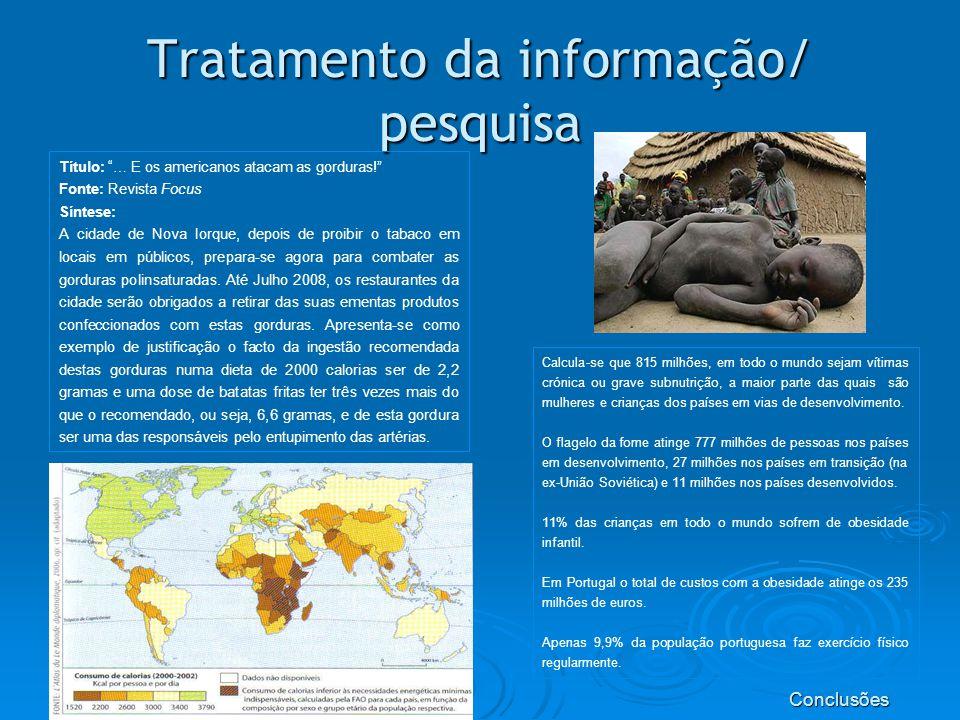 Tratamento da informação/ pesquisa