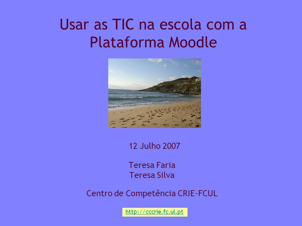 Usar as TIC na escola com a Plataforma Moodle
