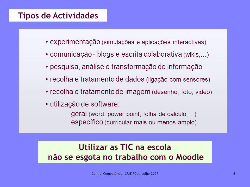 Utilizar as TIC na escola