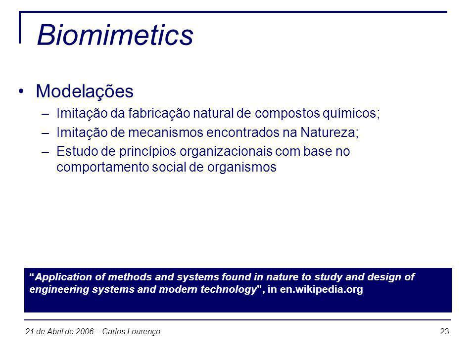 Biomimetics Modelações