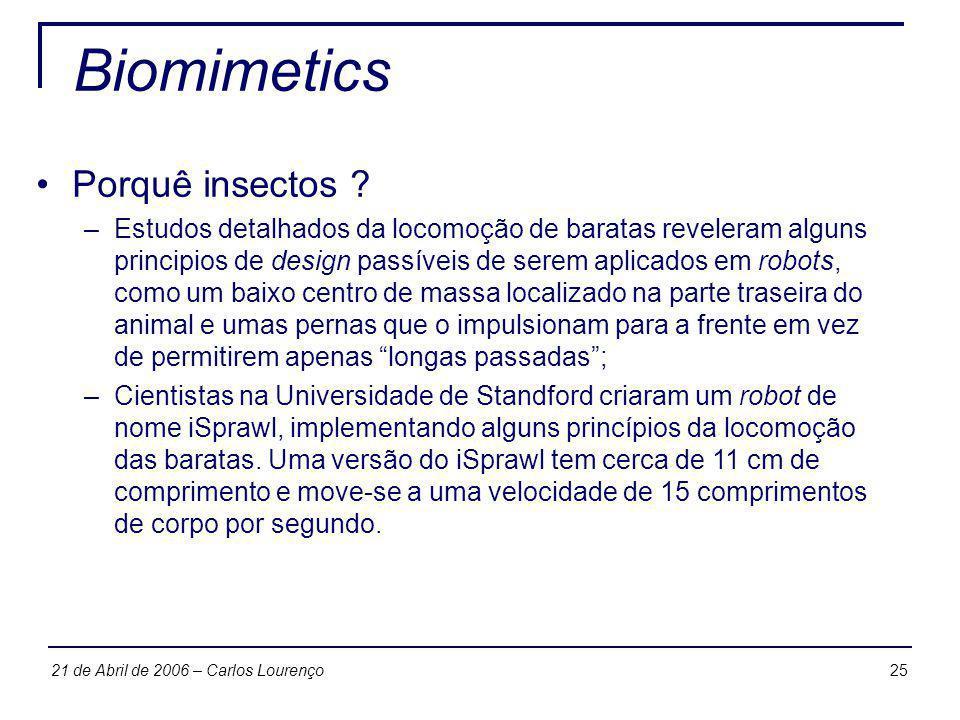 Biomimetics Porquê insectos