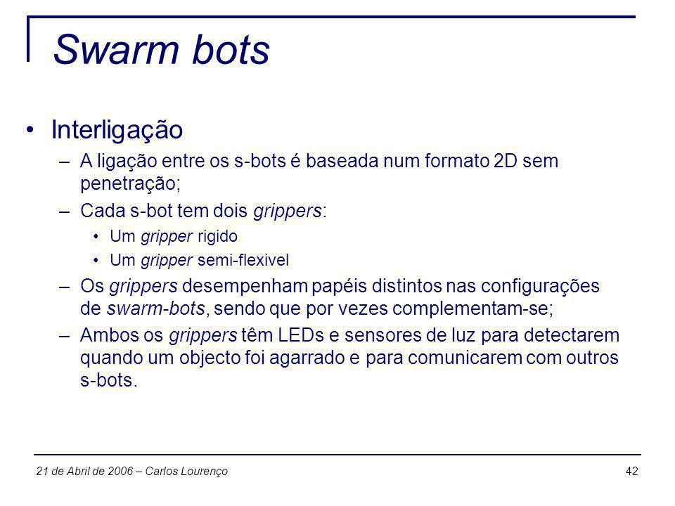 Swarm bots Interligação