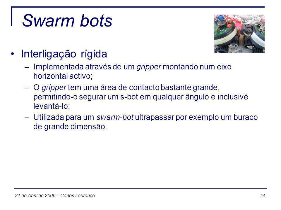 Swarm bots Interligação rígida