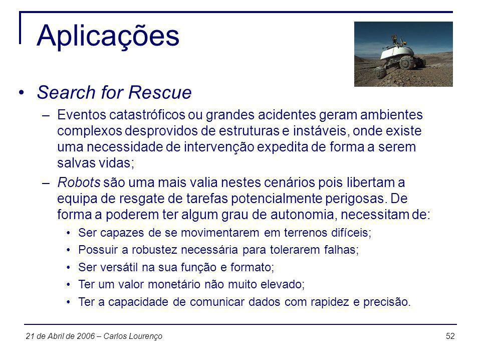 Aplicações Search for Rescue