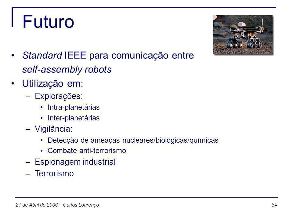 Futuro Standard IEEE para comunicação entre self-assembly robots
