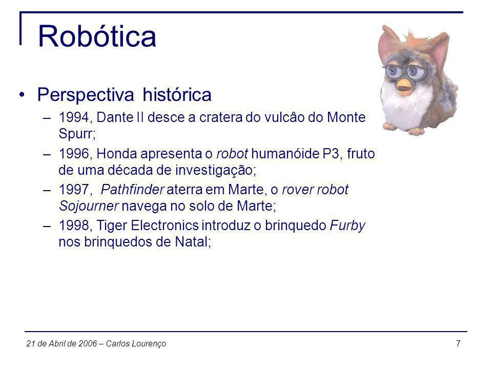 Robótica Perspectiva histórica