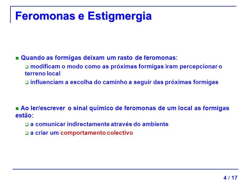 Feromonas e Estigmergia