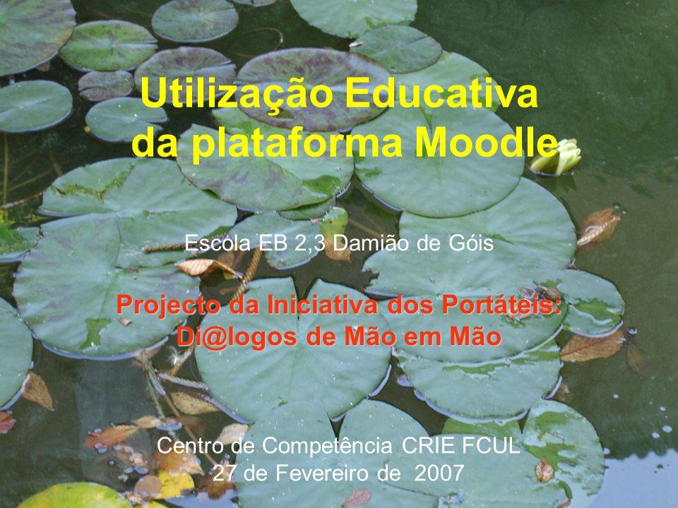 Utilização Educativa da plataforma Moodle