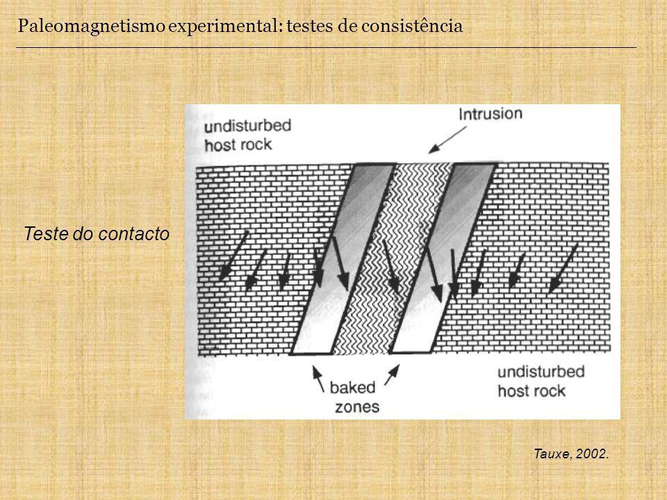 Paleomagnetismo experimental: testes de consistência