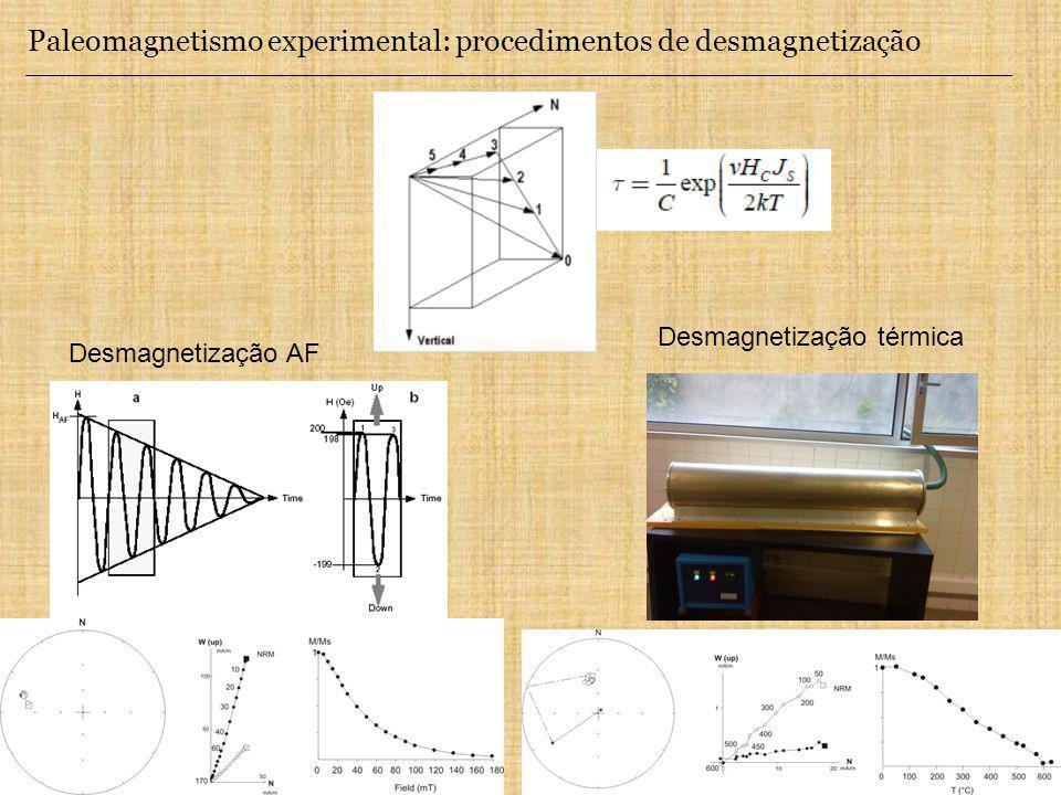 Paleomagnetismo experimental: procedimentos de desmagnetização