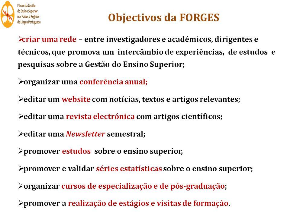 Objectivos da FORGES