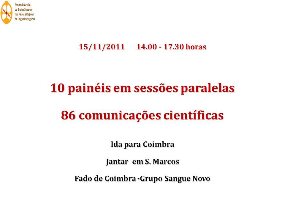 10 painéis em sessões paralelas 86 comunicações científicas