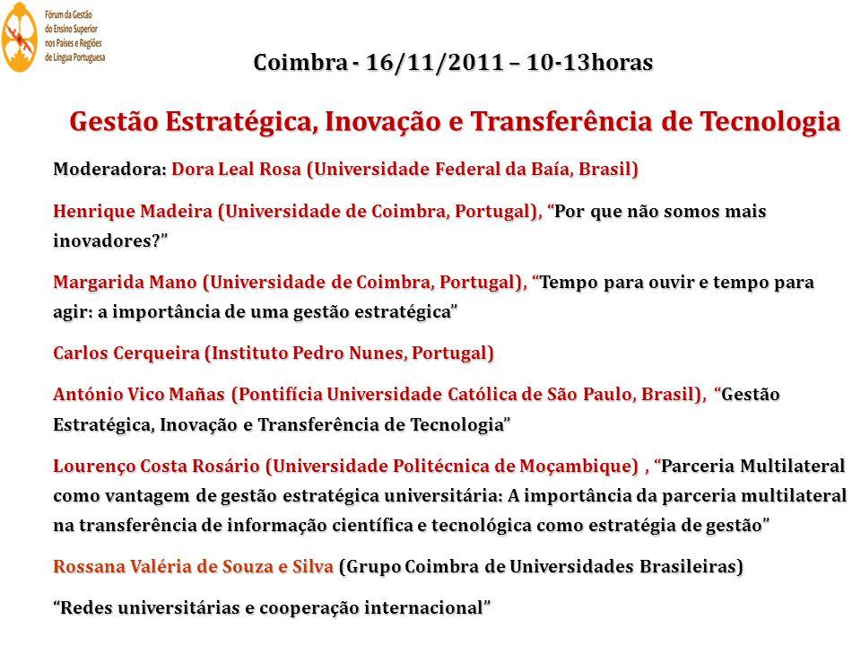 Gestão Estratégica, Inovação e Transferência de Tecnologia
