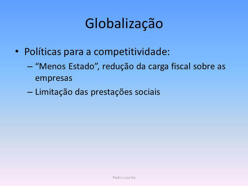 Globalização Políticas para a competitividade: