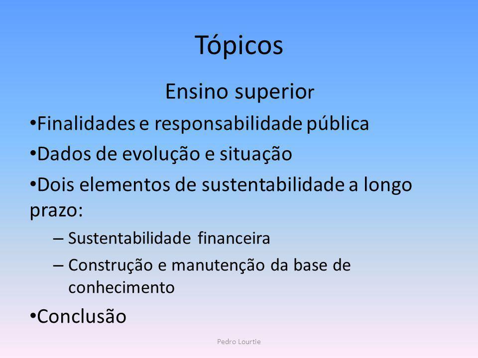 Tópicos Ensino superior Finalidades e responsabilidade pública