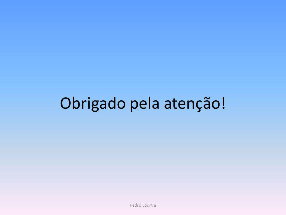 Obrigado pela atenção! Pedro Lourtie