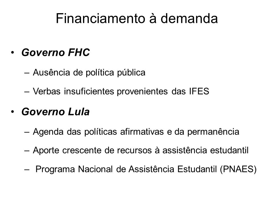 Financiamento à demanda