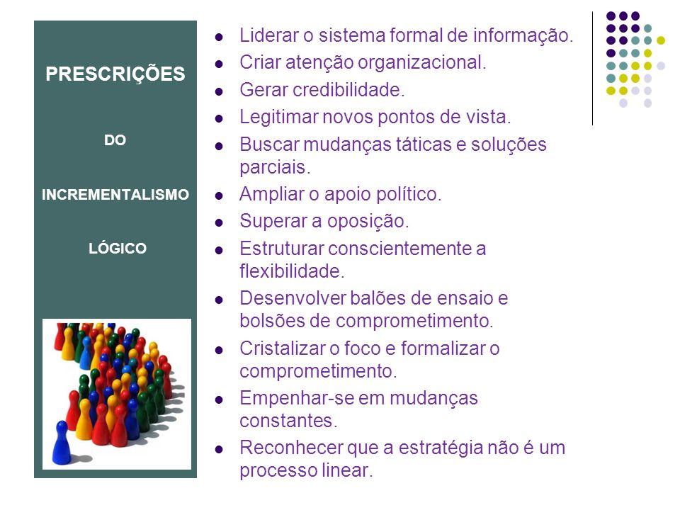 PRESCRIÇÕES DO INCREMENTALISMO LÓGICO