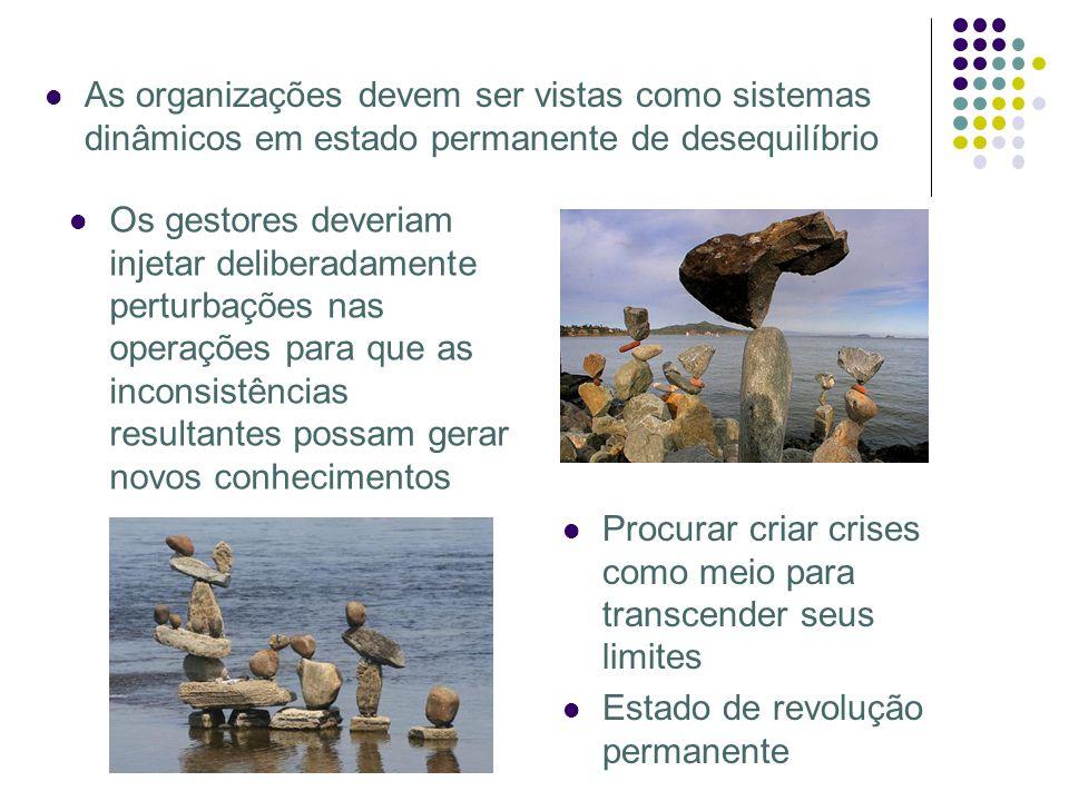 As organizações devem ser vistas como sistemas dinâmicos em estado permanente de desequilíbrio