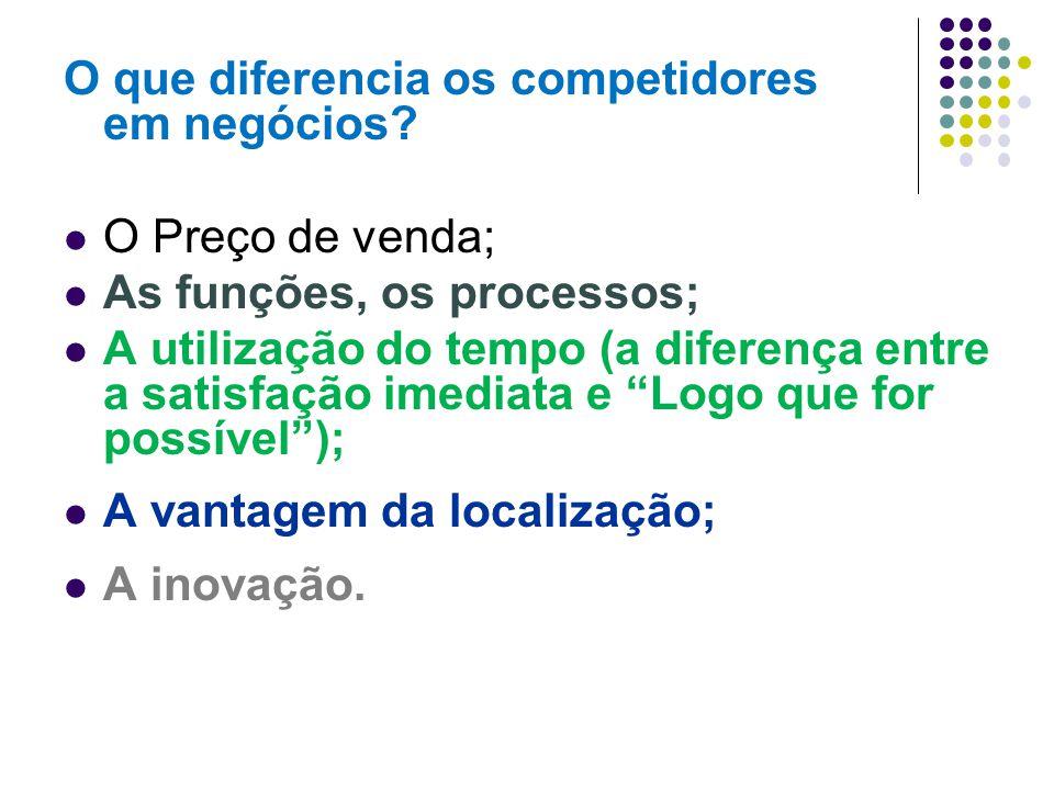 O que diferencia os competidores em negócios