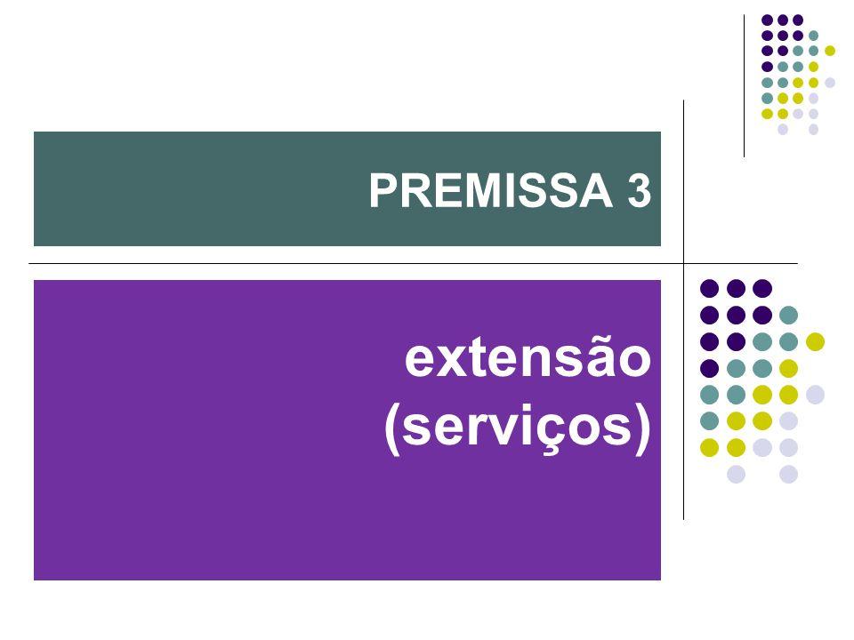 PREMISSA 3 extensão (serviços)