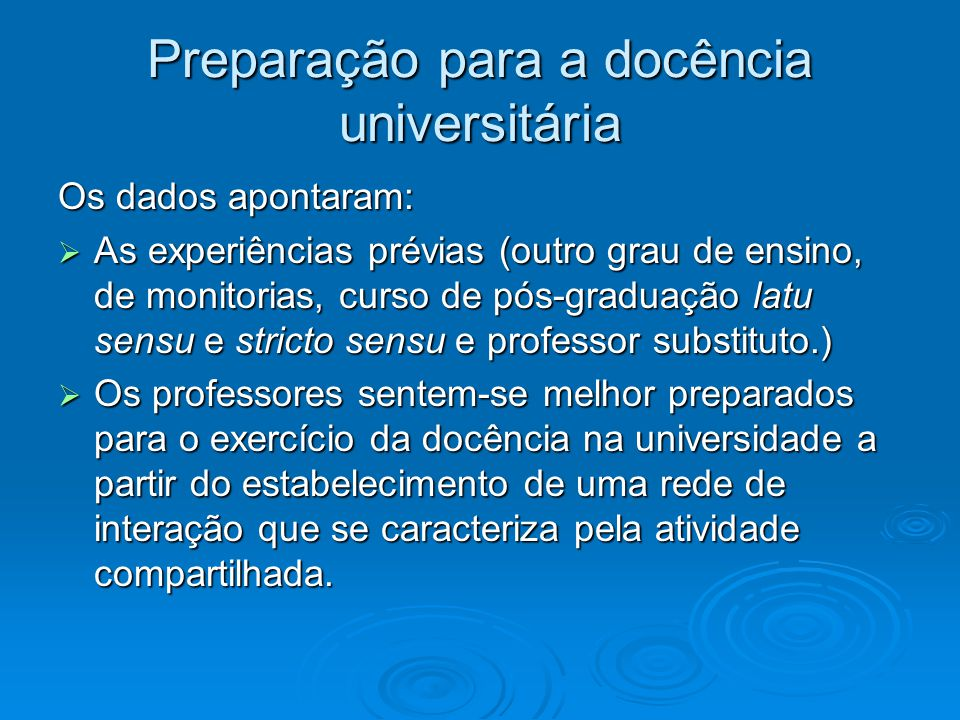 Preparação para a docência universitária