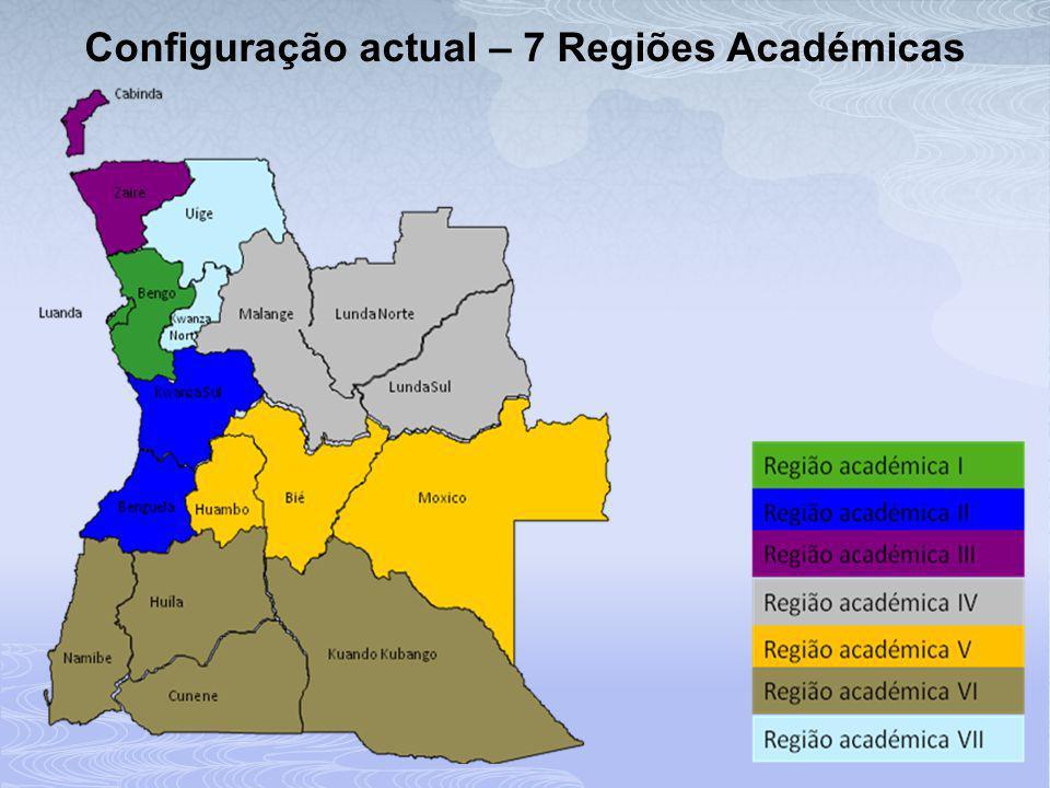 Configuração actual – 7 Regiões Académicas