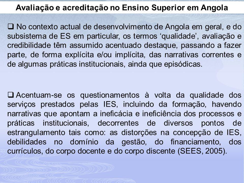Avaliação e acreditação no Ensino Superior em Angola