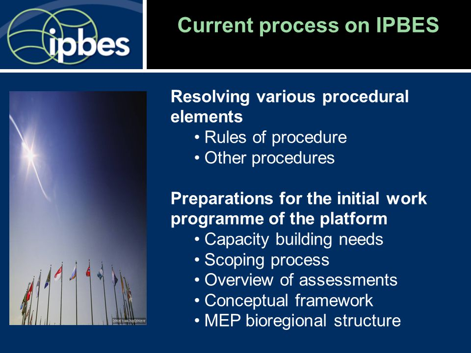 Current process on IPBES