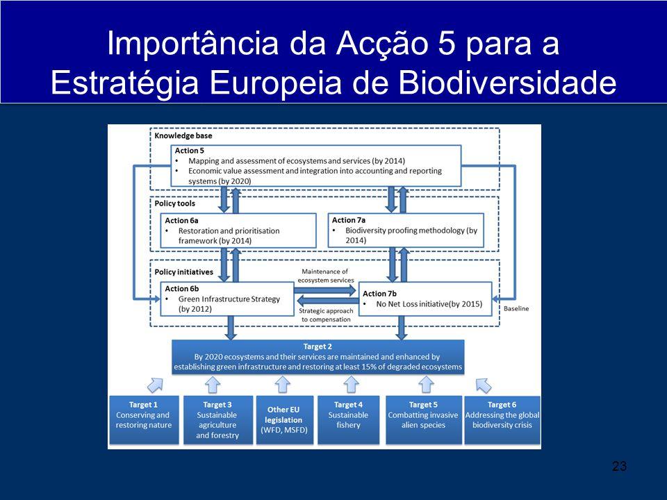 Importância da Acção 5 para a Estratégia Europeia de Biodiversidade