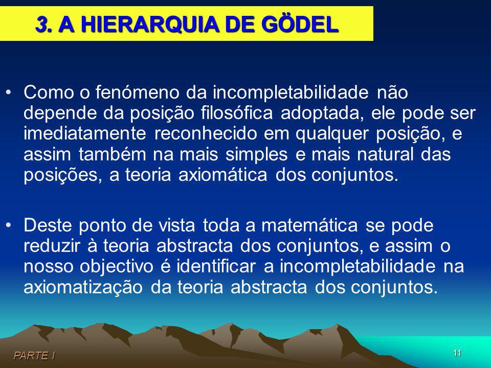 3. A HIERARQUIA DE GÖDEL