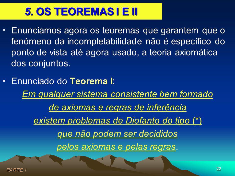 5. OS TEOREMAS I E II
