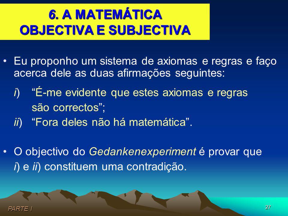 6. A MATEMÁTICA OBJECTIVA E SUBJECTIVA