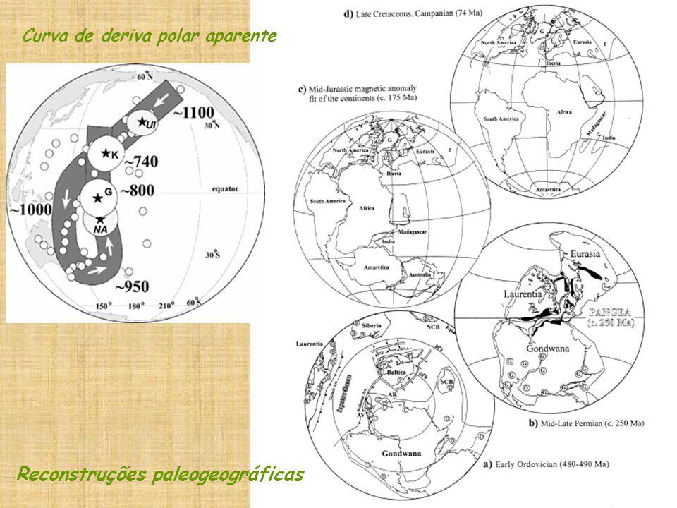 Curva de deriva polar aparente Reconstruções paleogeográficas