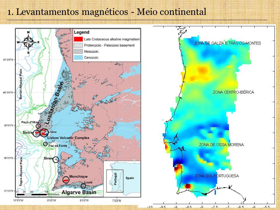 1. Levantamentos magnéticos - Meio continental