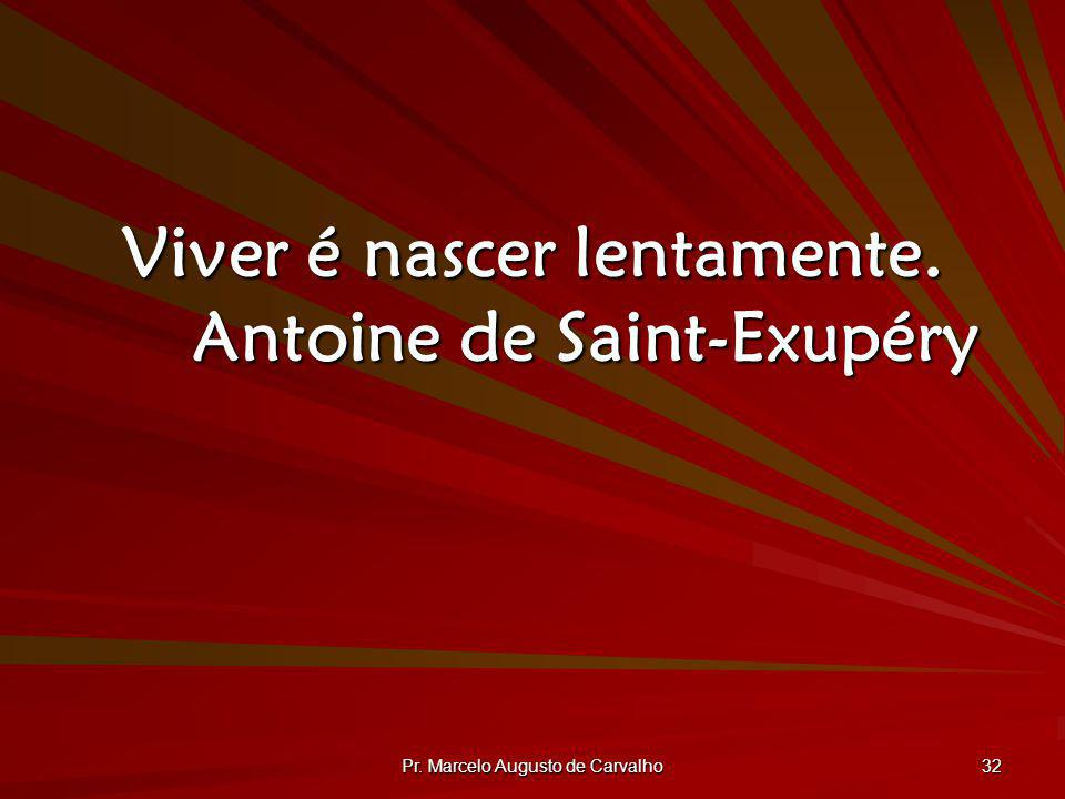 Viver é nascer lentamente. Antoine de Saint-Exupéry