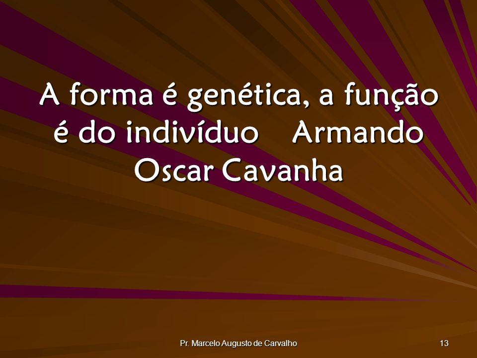 A forma é genética, a função é do indivíduo Armando Oscar Cavanha