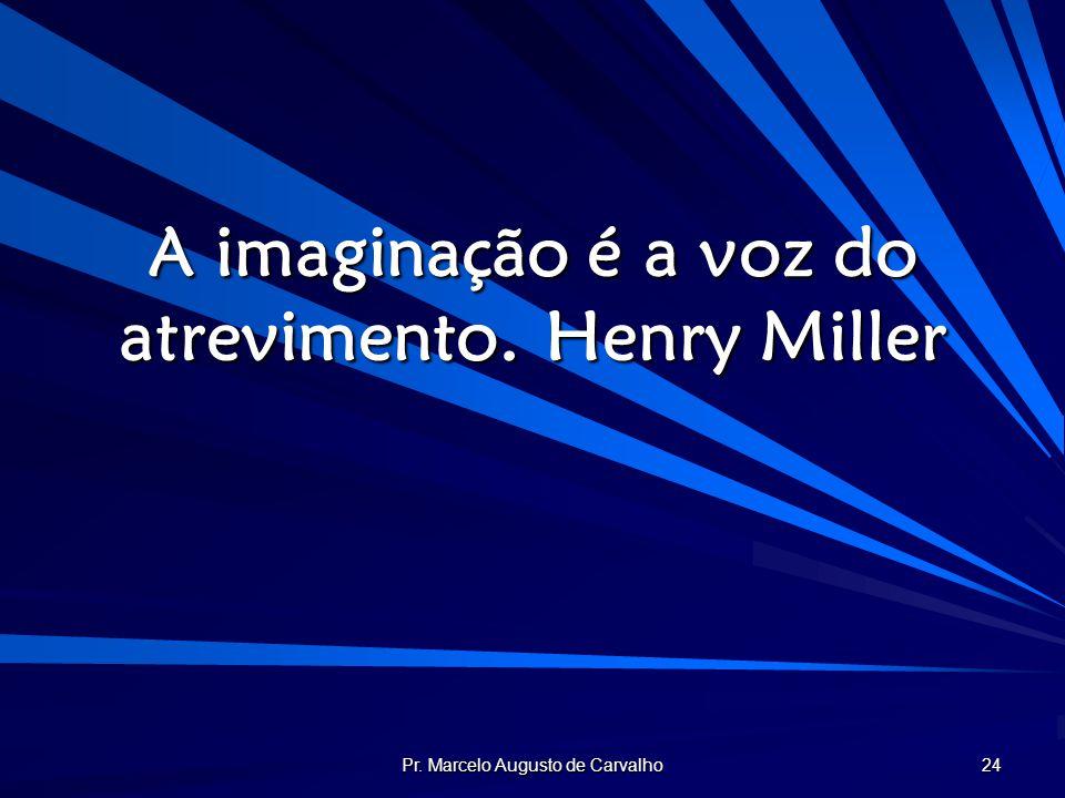 A imaginação é a voz do atrevimento. Henry Miller
