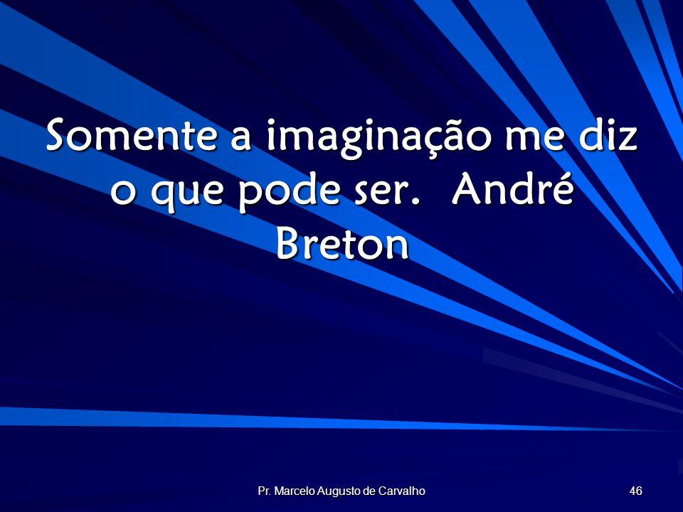 Somente a imaginação me diz o que pode ser. André Breton