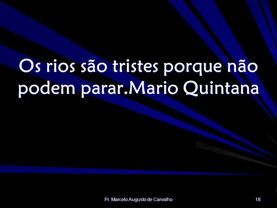 Os rios são tristes porque não podem parar. Mario Quintana