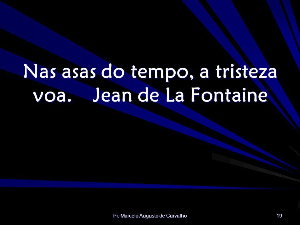 Nas asas do tempo, a tristeza voa. Jean de La Fontaine