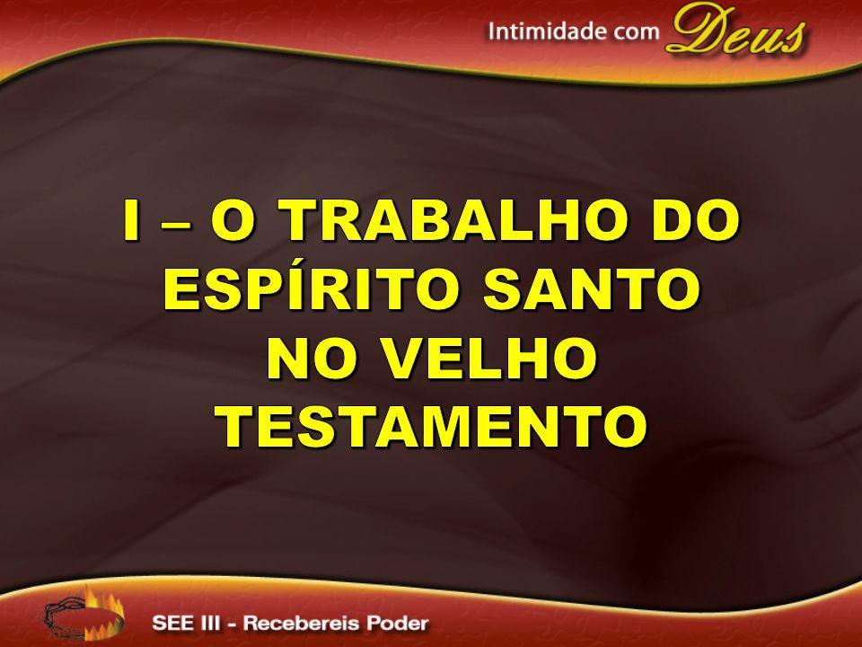 I – O trabalho do Espírito Santo no Velho Testamento