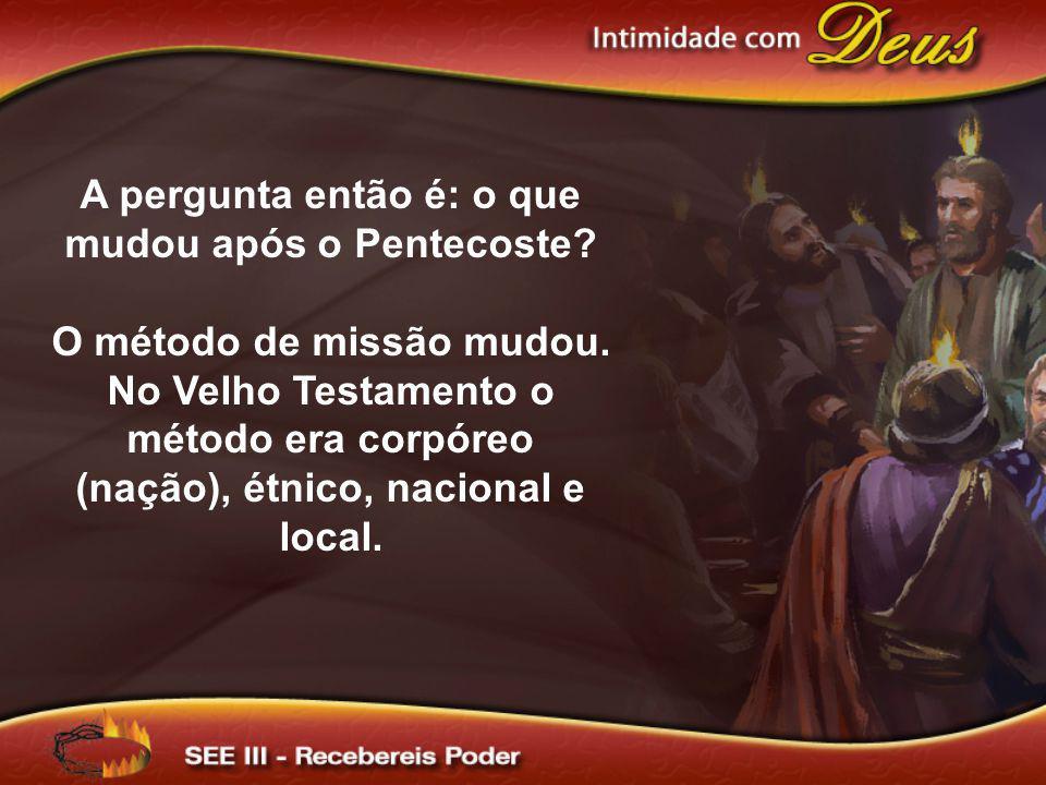 A pergunta então é: o que mudou após o Pentecoste