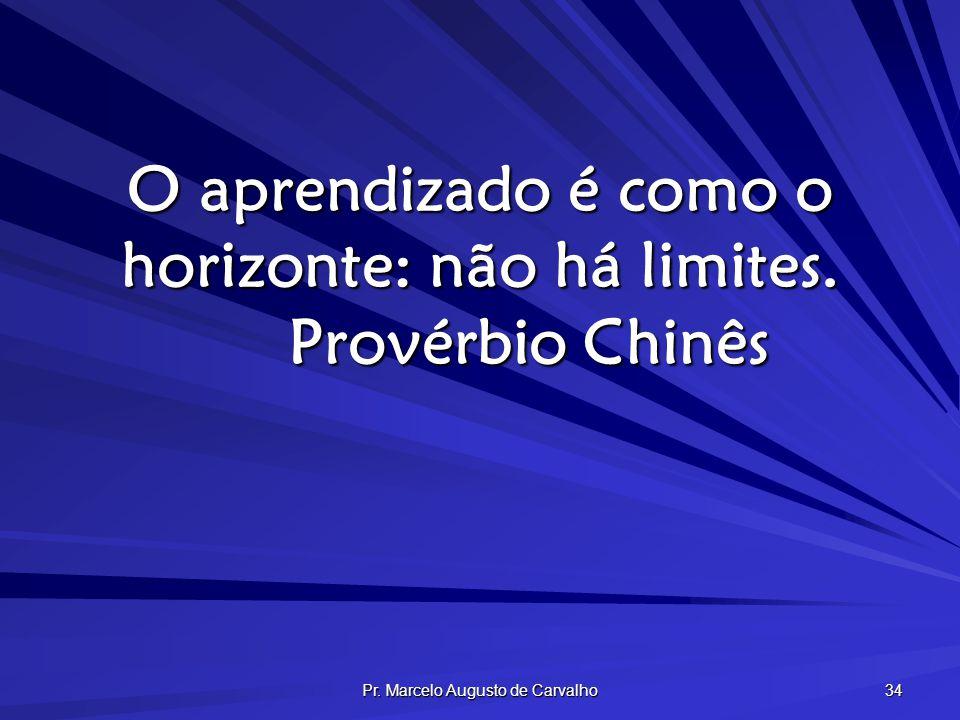 O aprendizado é como o horizonte: não há limites. Provérbio Chinês
