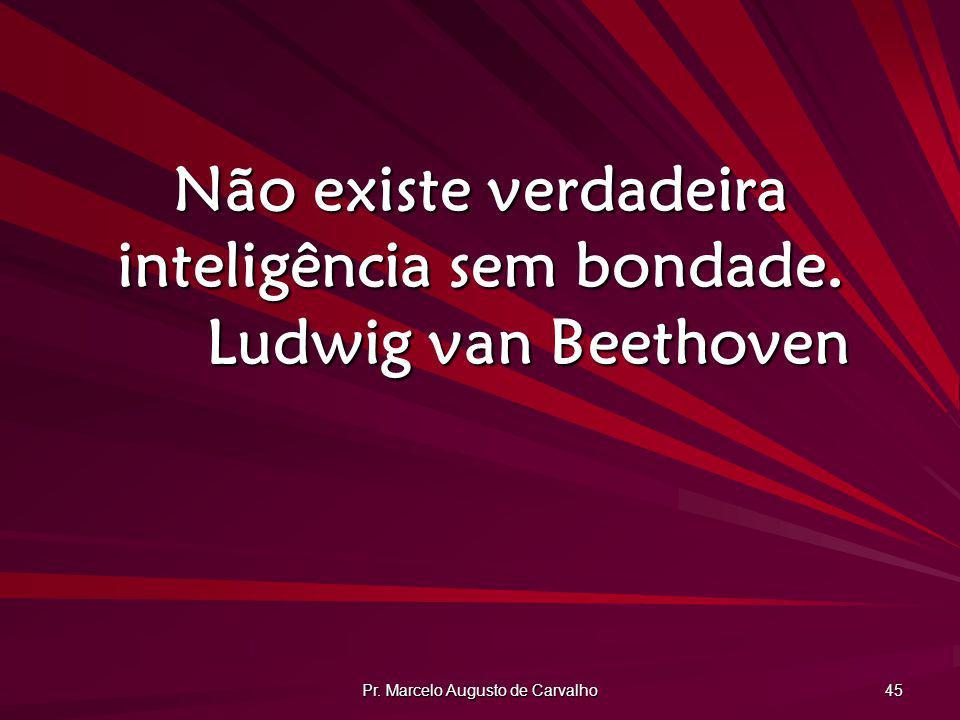 Não existe verdadeira inteligência sem bondade. Ludwig van Beethoven