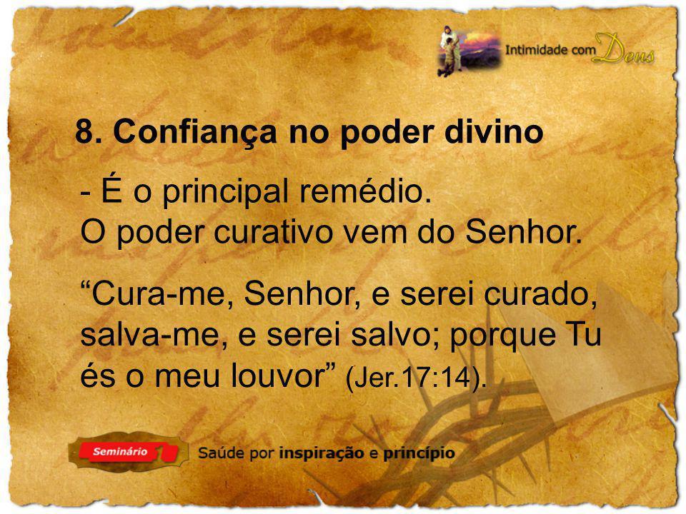 8. Confiança no poder divino