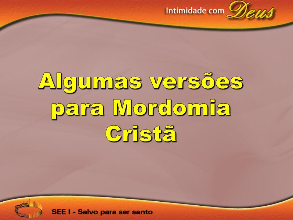Algumas versões para Mordomia Cristã