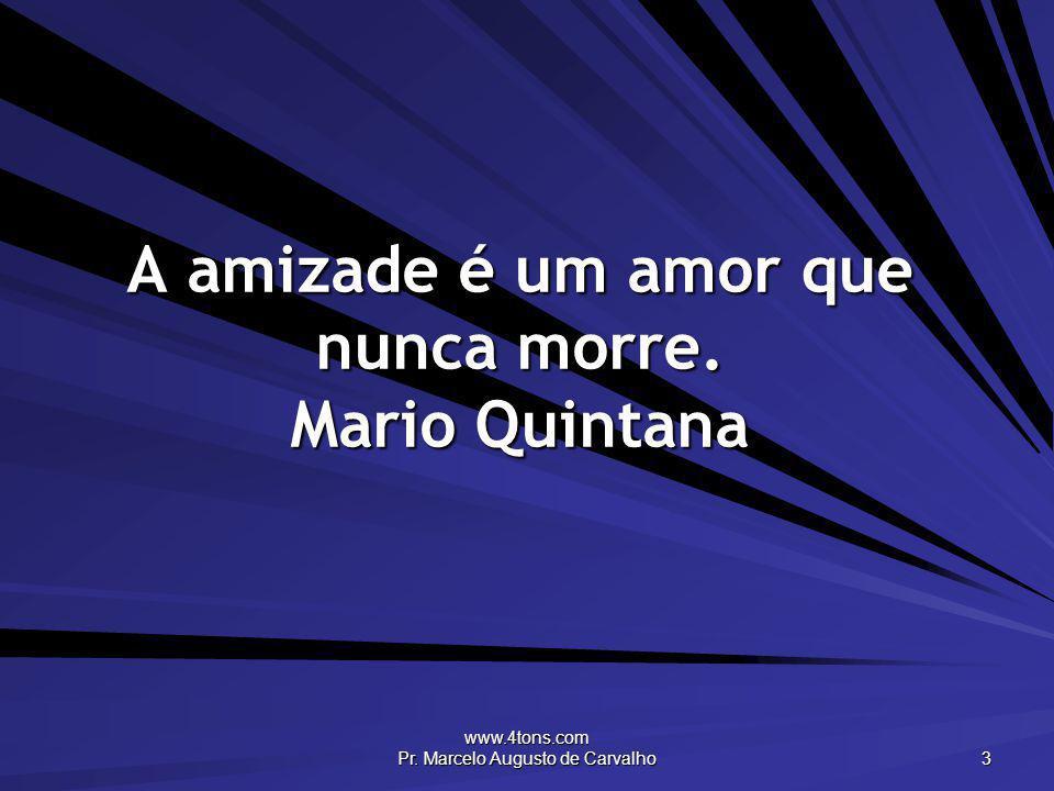A amizade é um amor que nunca morre. Mario Quintana