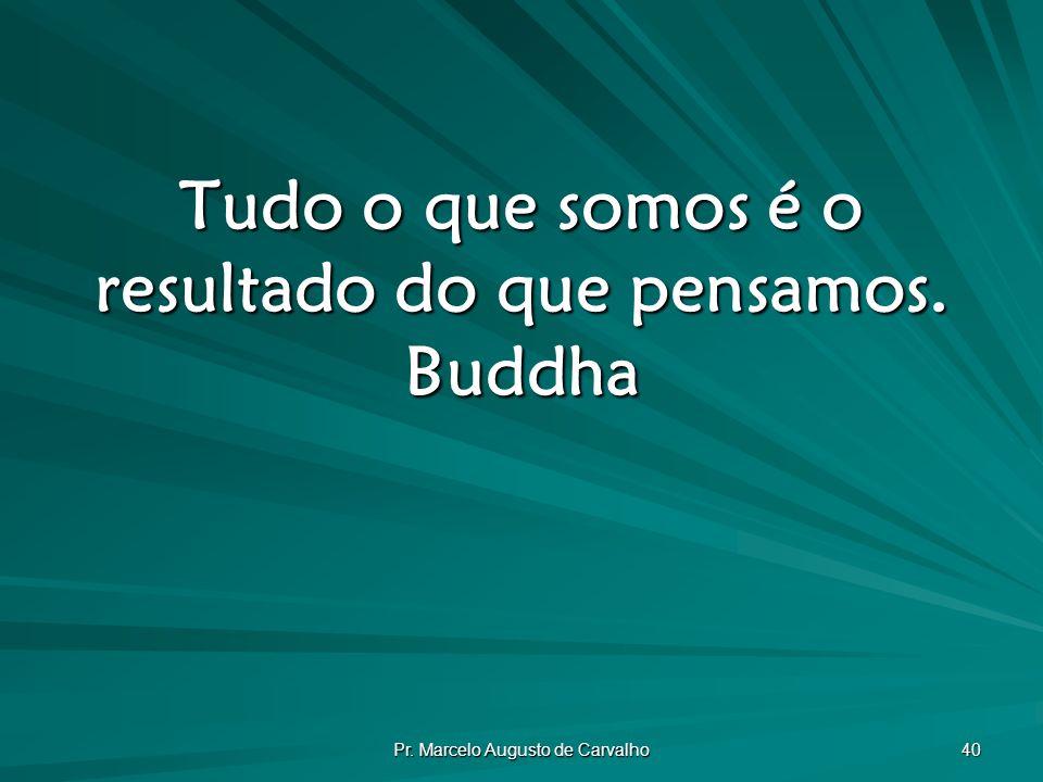 Tudo o que somos é o resultado do que pensamos. Buddha