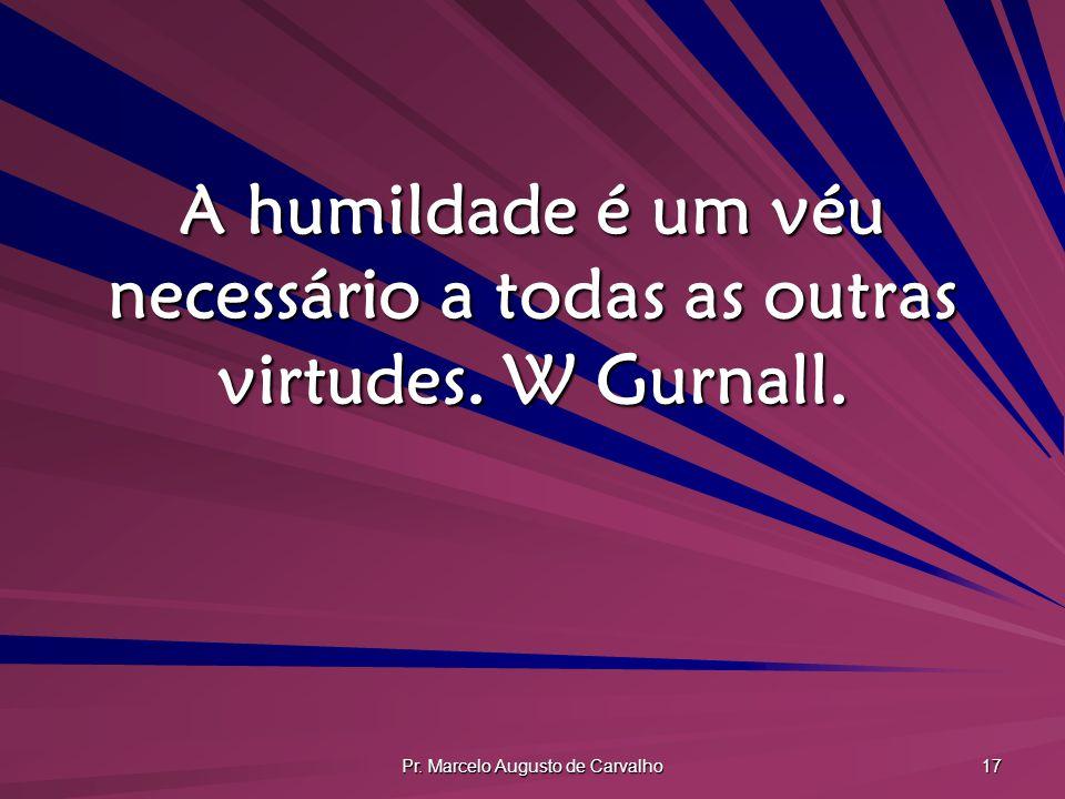 A humildade é um véu necessário a todas as outras virtudes. W Gurnall.